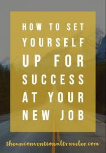 How to Set Yourself up for Success at Your New Job