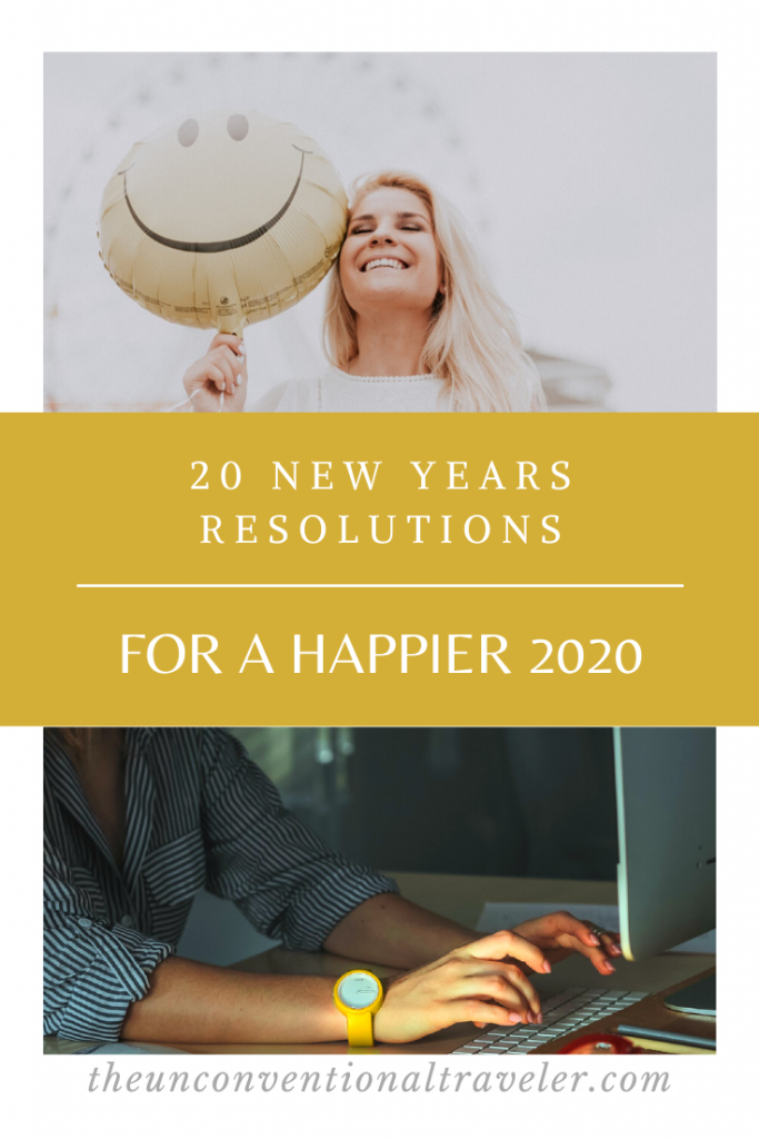 20 New Year's Resolutions for a happier 2020 Pinterest image